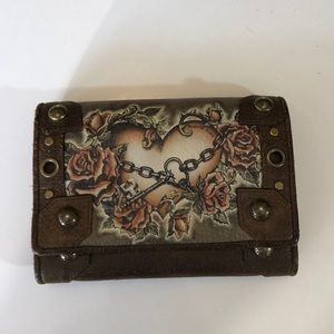 Isabella Fiore Heart in Chains Wallet - EUC